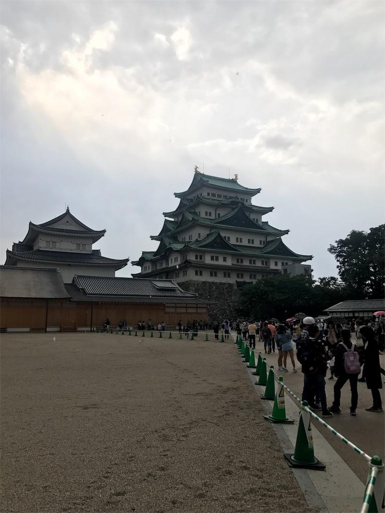 名古屋城。長蛇の列をみて中に入るのは諦めました…